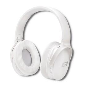 Qoltec Słuchawki bezprzewodowe z mikrofonem Super Bass DYNAMIC | BT | Białe perłowe